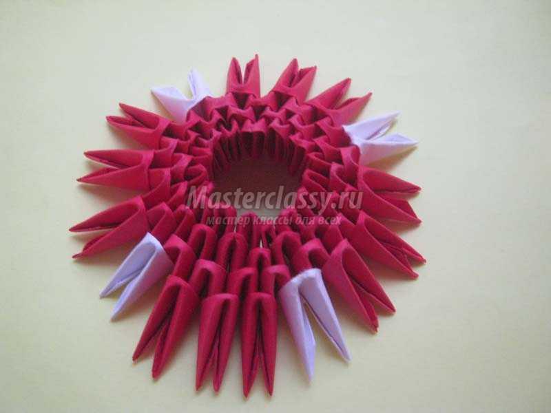 модульное оригами клубника