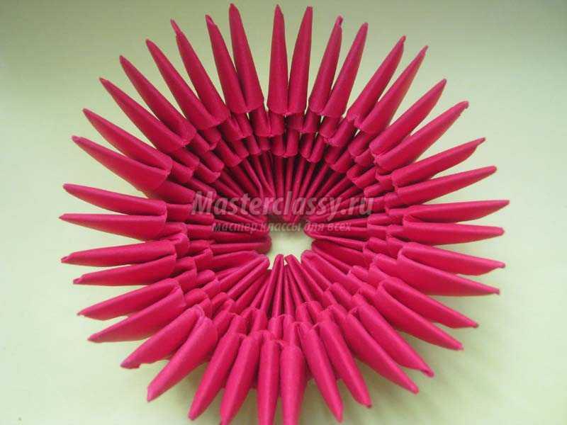 оригами кактус из бумаги