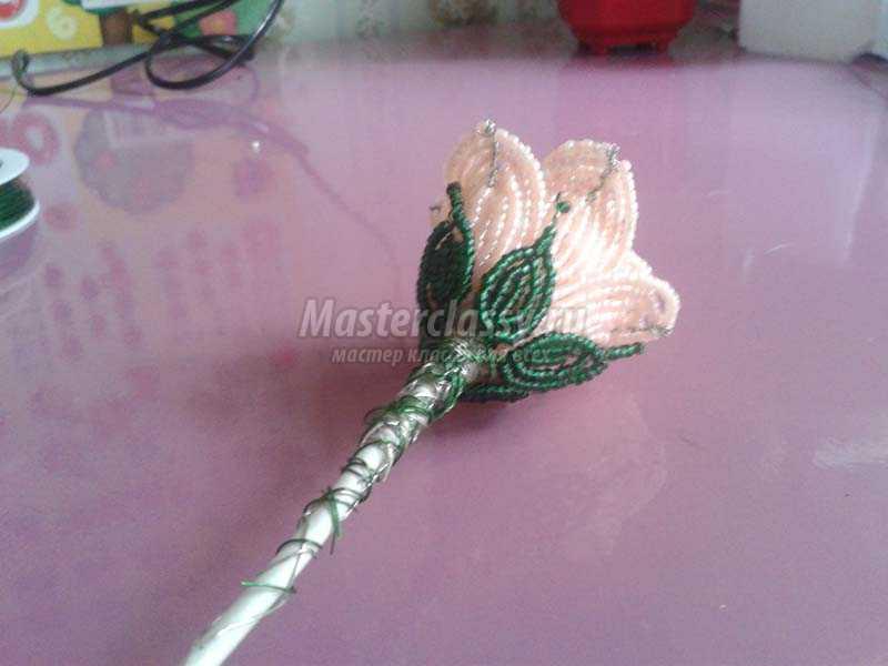 плетение бисером розы для начинающих