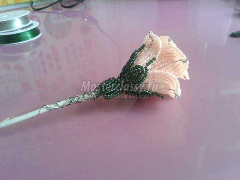 плетение из бисера розы пошаговое фото