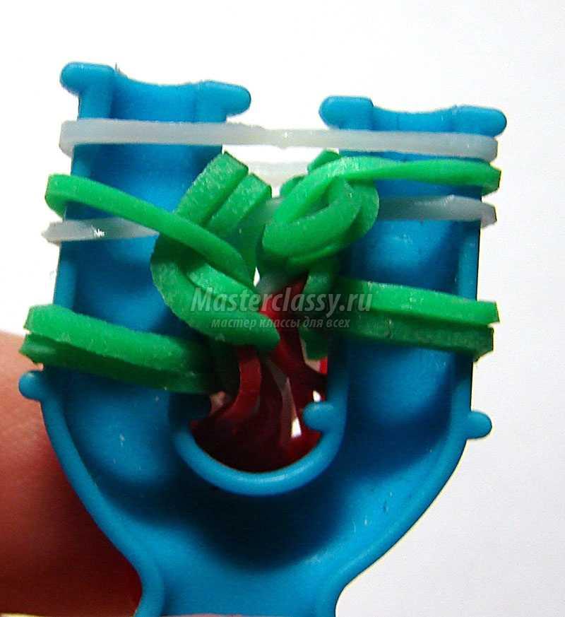 как сделать браслет из резинок на рогатке