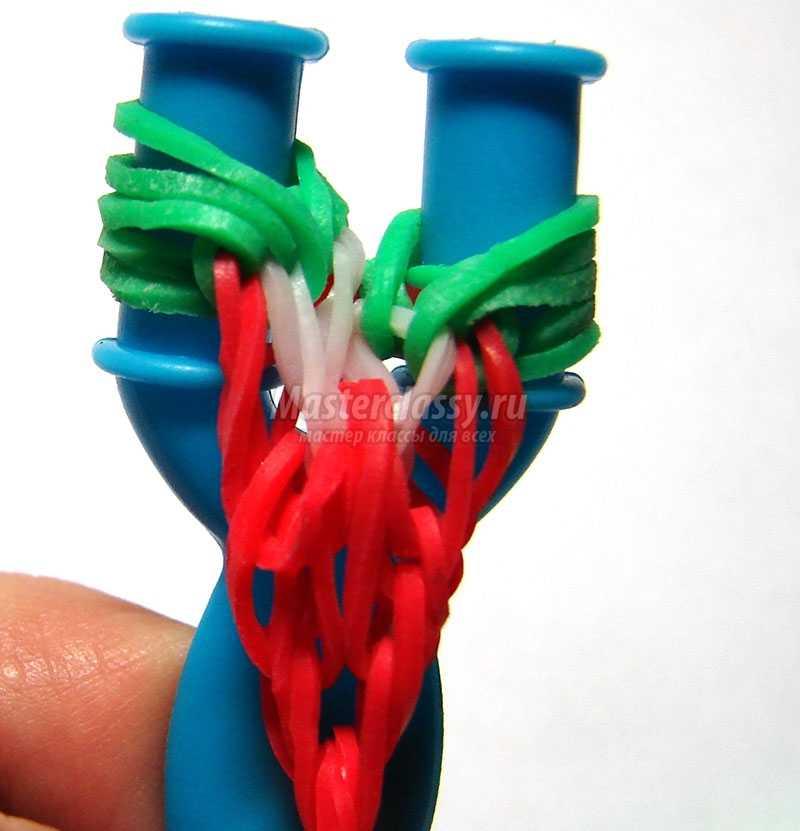 браслеты из резинок на рогатке уроки