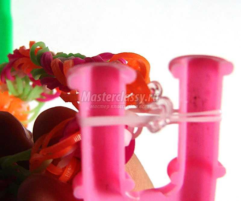 браслет из резинок испанское кружево