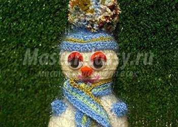 Вязаный снеговик. Вязание крючком. Мастер-класс