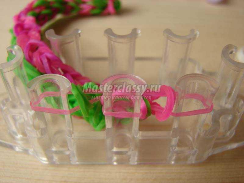 браслеты из резинок для начинающих