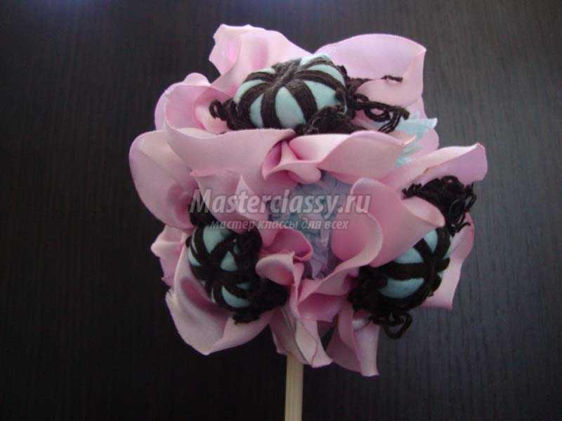 цветы из ткани для топиария
