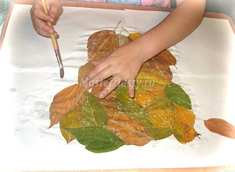 аппликации из осенних листьев своими руками