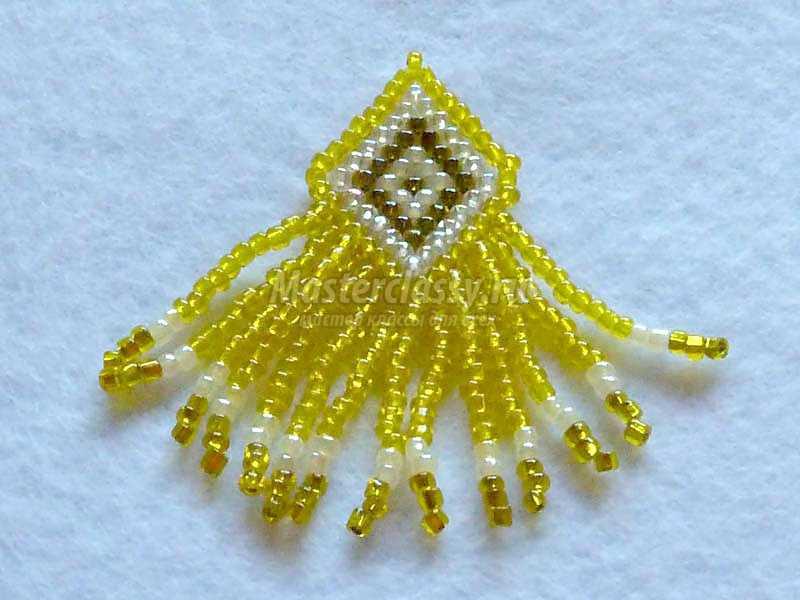 плетение из бисера серьги