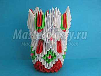 Модульное оригами. Ваза. Пошаговый мастер-класс с фото