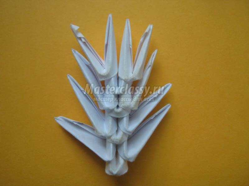 оригами из бумаги снежинки