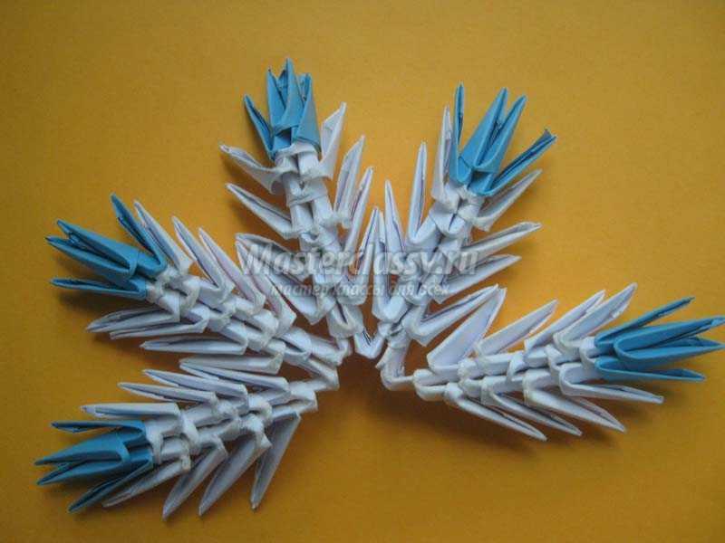 модуль оригами снежинка