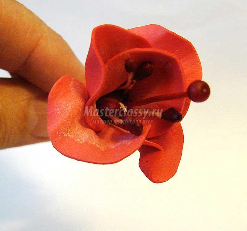 цветок фуксия из фоамирана видео