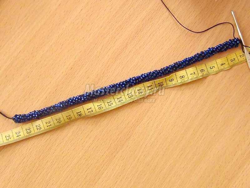 браслет из бисера жгут схема