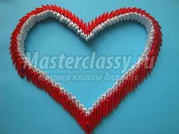 Сердечко оригами. Мастер-класс с пошаговыми фото