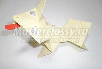 Собачка оригами. Мастер-класс с пошаговыми фото