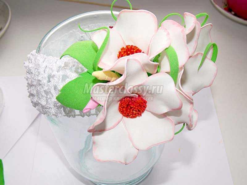 цветы из фоамирана пошаговое фото