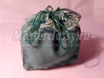 Мешочек из ткани для мелочей. Мастер-класс с фото
