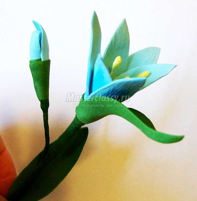 цветы из фоамирана фото мастер