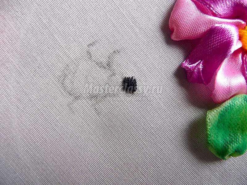 вышивка лентами для начинающих цветы