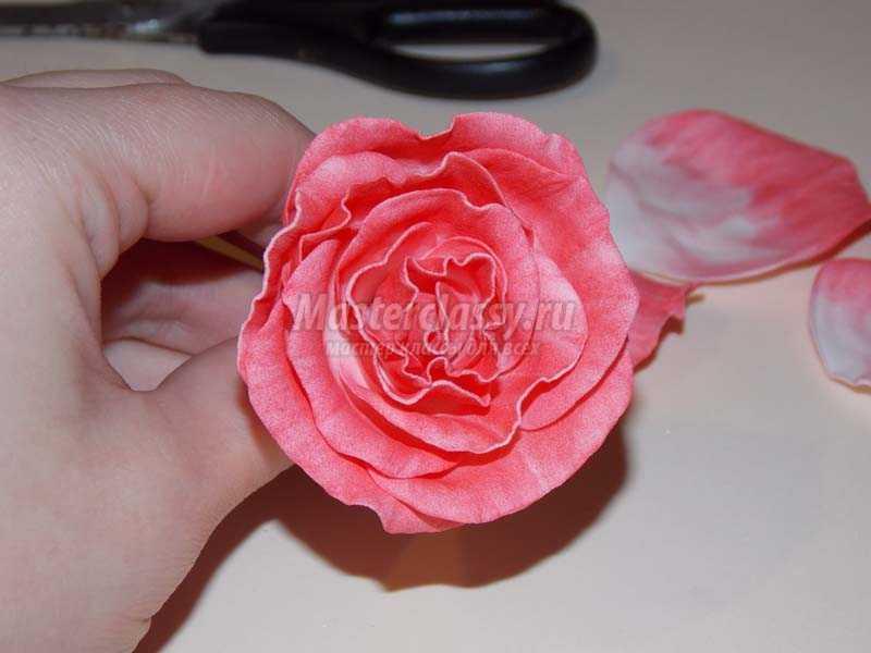 роза из фоамирана фото