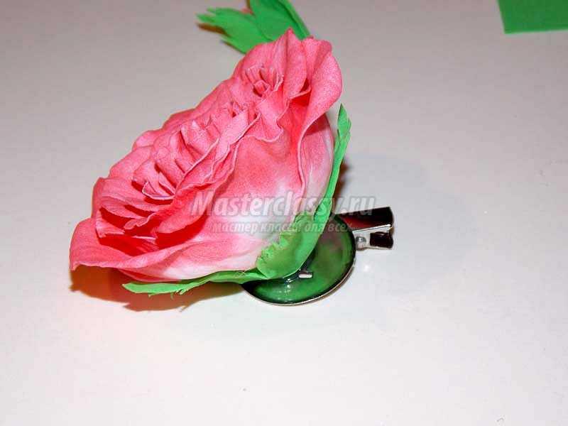 роза из фоамирана мк