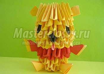 Модульное оригами. Винни Пух. Мастер-класс