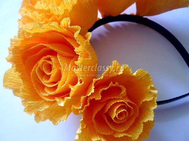 розы из гофрированной бумаги пошагово