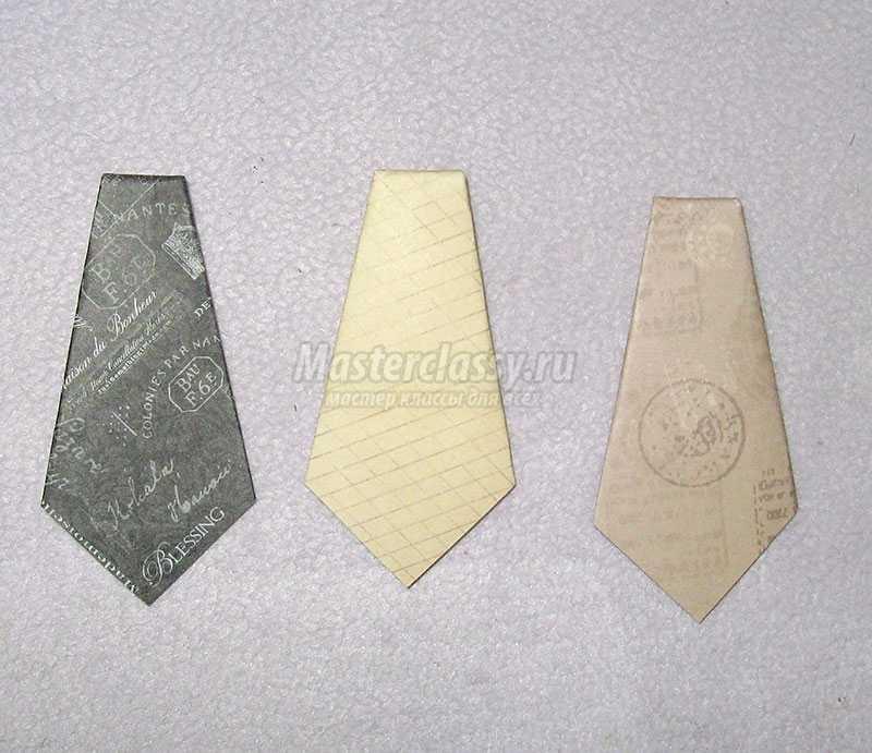 открытка в виде галстука