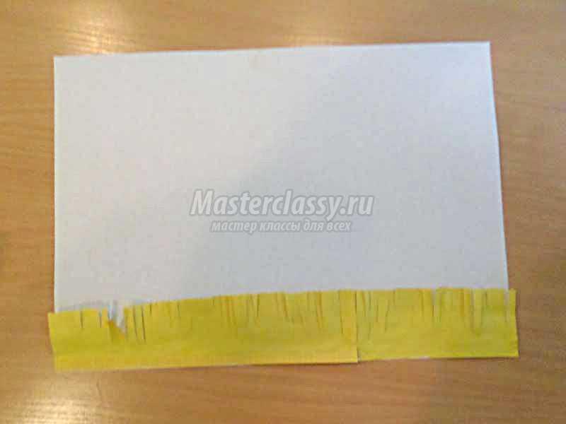 аппликация ежик из цветной бумаги