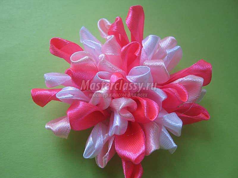 цветы из лент для заколок своими руками
