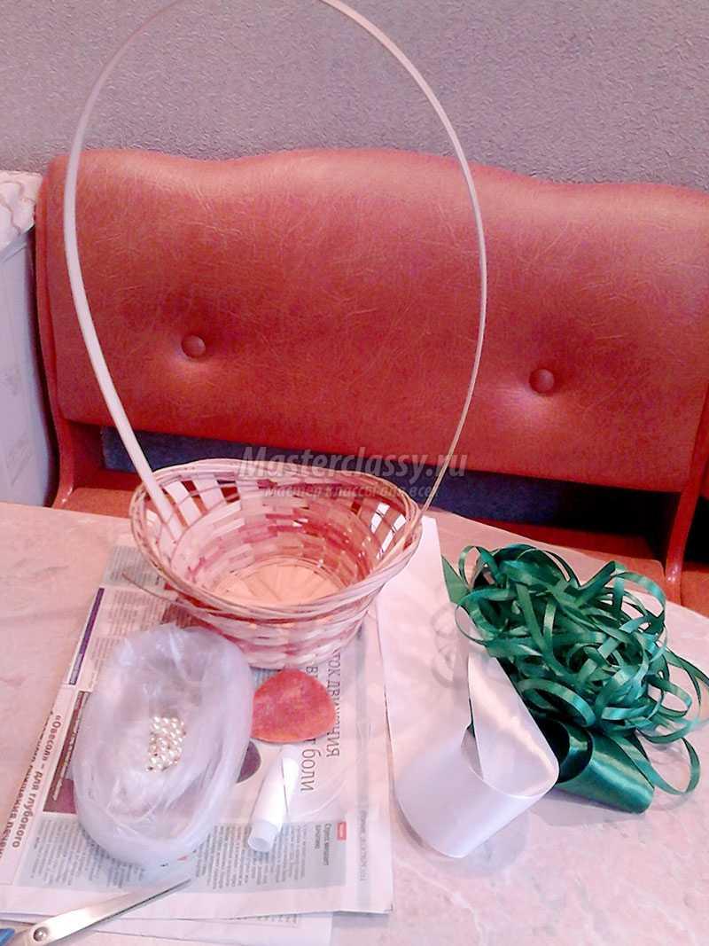 схема роз из атласных лент