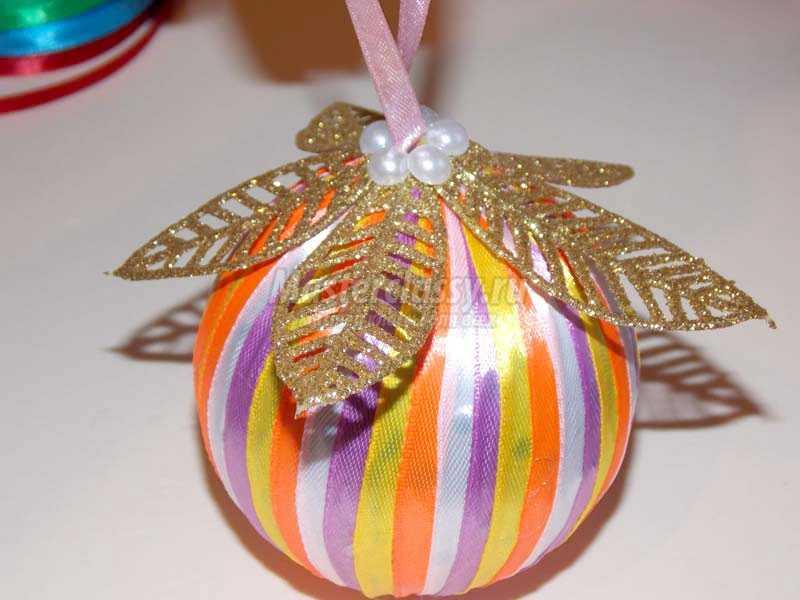 шары из атласных лент мастер класс