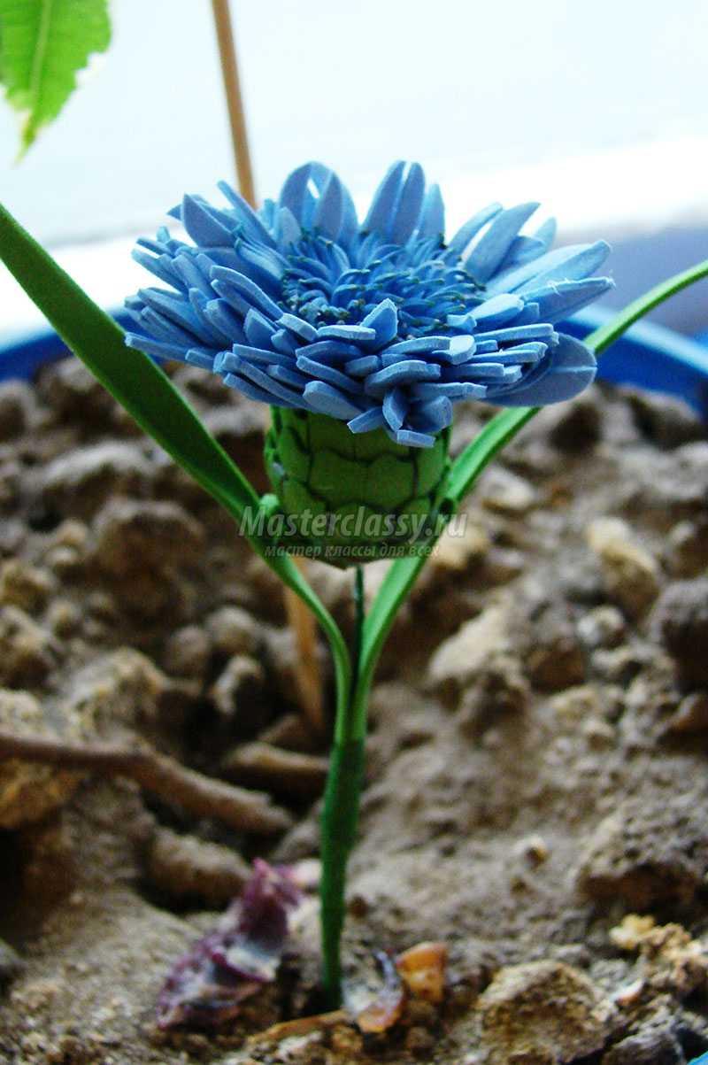 цветы из фоамирана васильки
