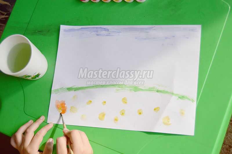 детские рисунки акварелью