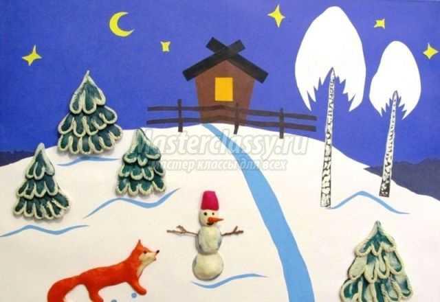 Аппликация на тему зима: лучшие идеи с фото