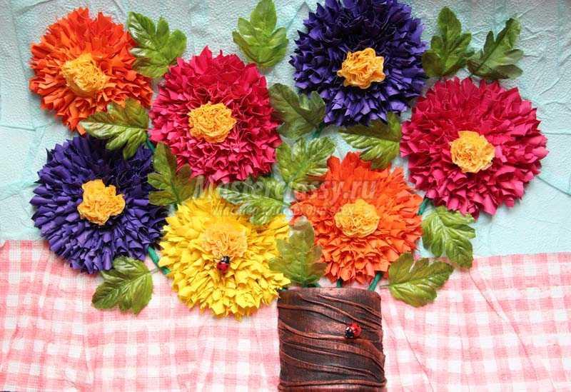 Поделки из цветков из салфетки 8
