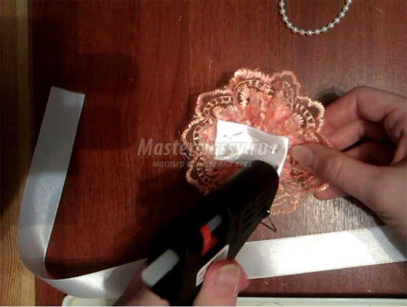 браслет из атласных лент своими руками