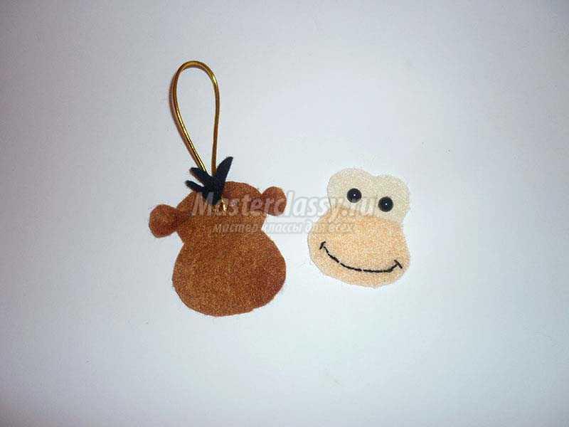 обезьянка из фетра