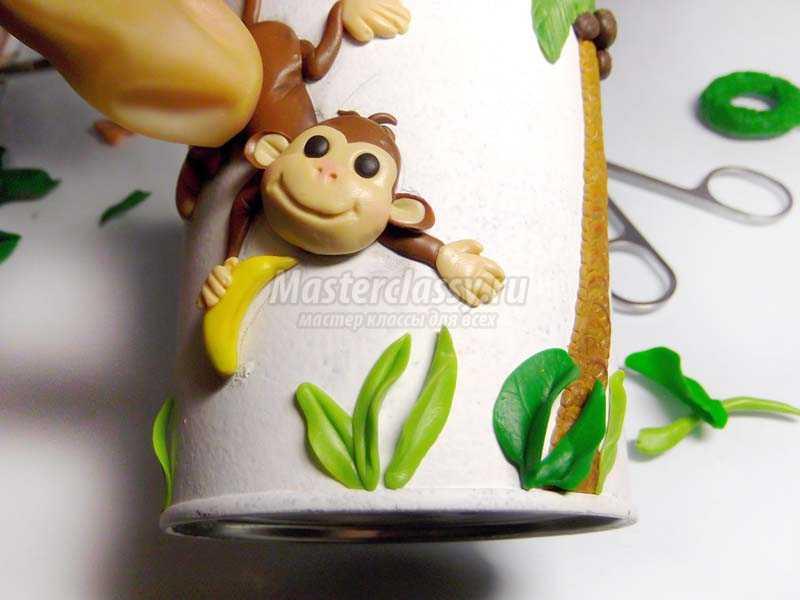 фигурки обезьянок из полимерной глины