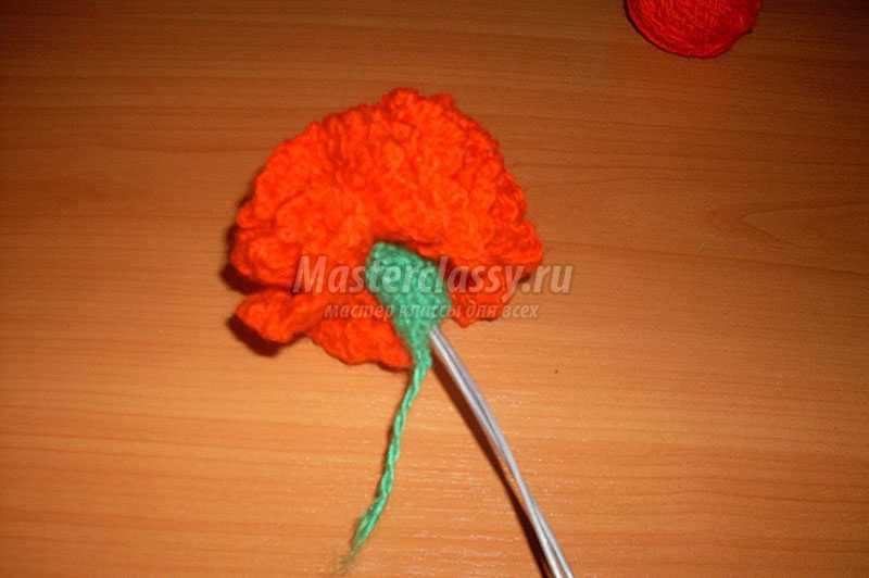 вязание крючком для начинающих цветы