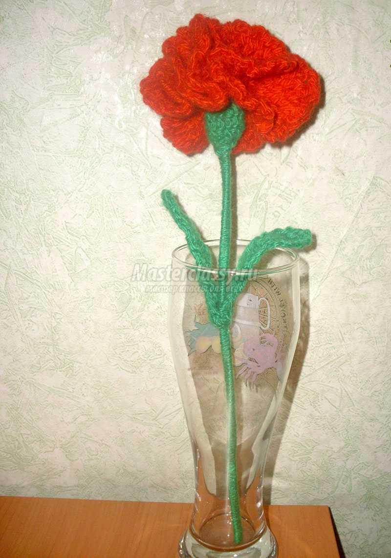 вязание крючком цветы описание