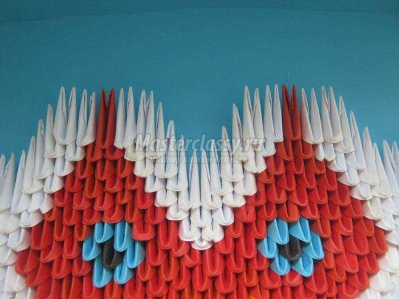 оригами валентинка сердце