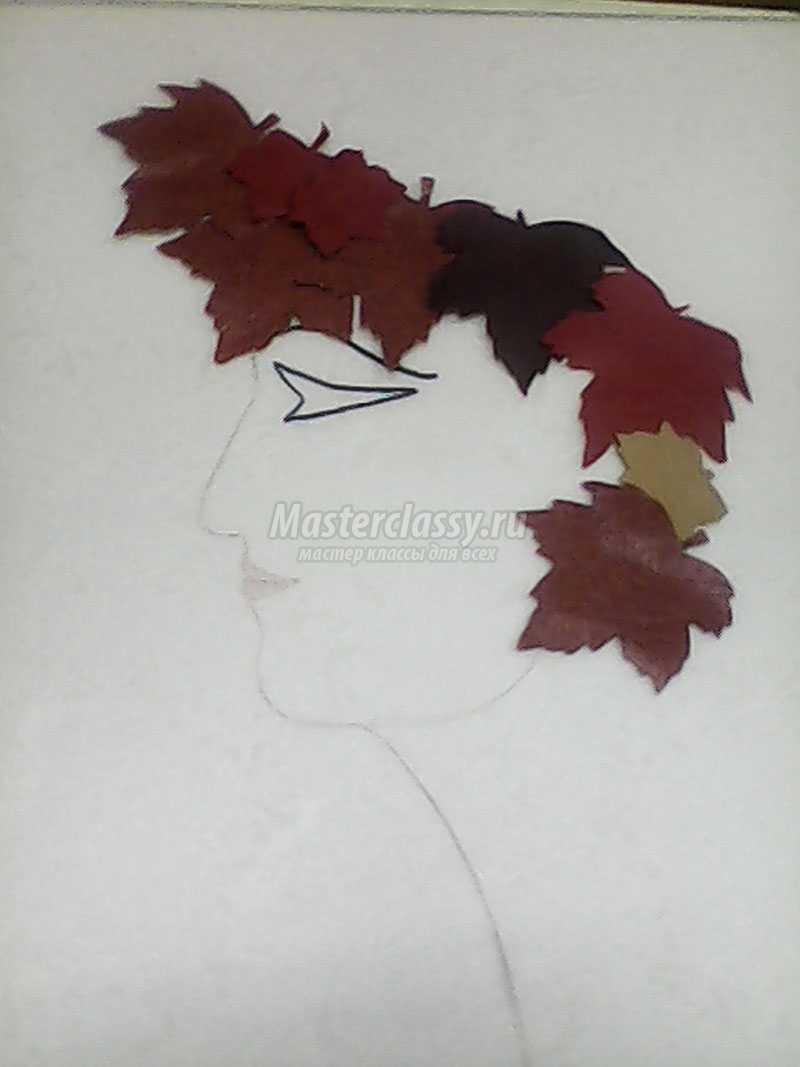 панно из листьев