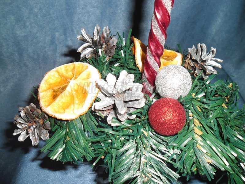 рождественский подсвечник своими руками