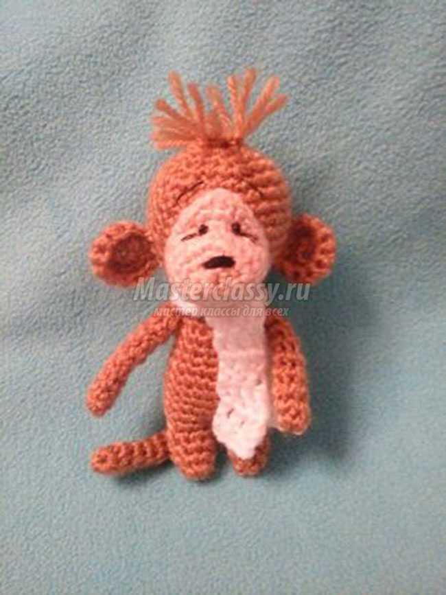 вязание крючком обезьянки амигуруми