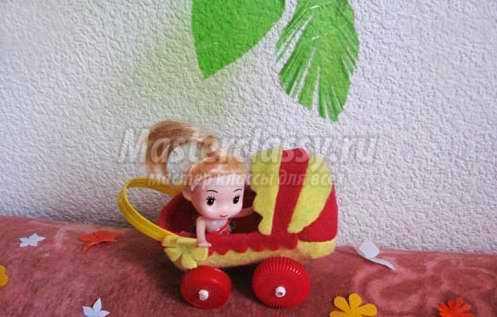 Кукольная коляска. Пошаговый мастер-класс с фото