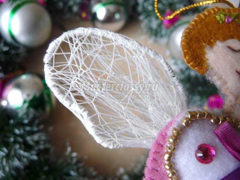 новогодние ангелочки из фетра