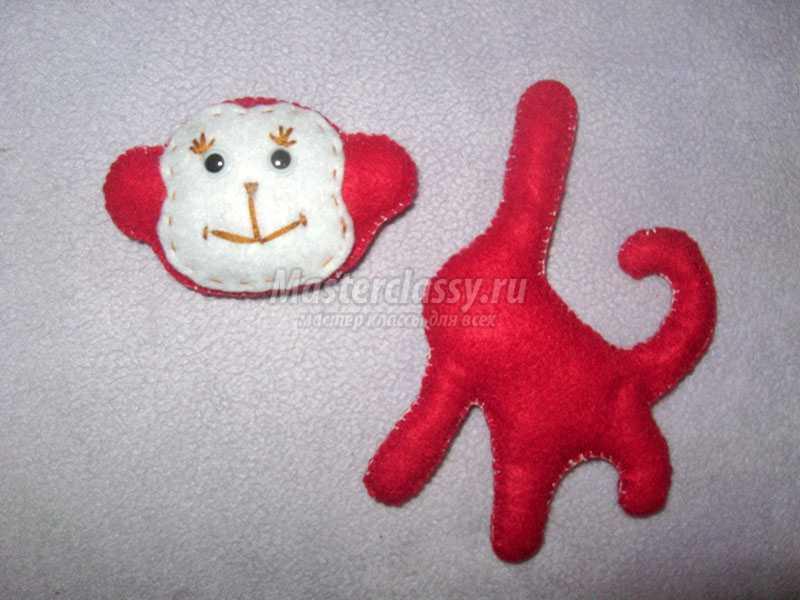 игрушки из фетра обезьянка