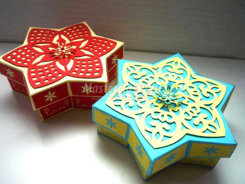 новогодние игрушки из цветной бумаги