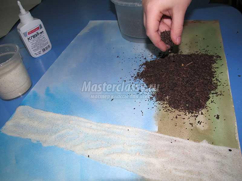 аппликация из природного материала